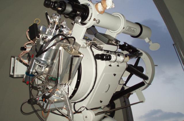 飯舘観測所にあった時の60cm望遠鏡